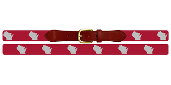 Wisconsin State Needlepoint Belt