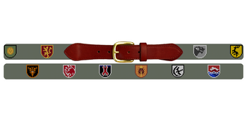Custom Family Crest Needlepoint Belt