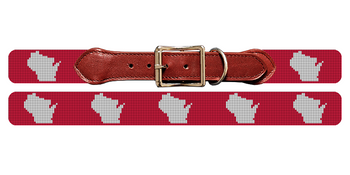 Wisconsin State Needlepoint Dog Collar