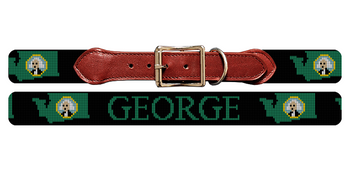 Washington State Needlepoint Dog Collar