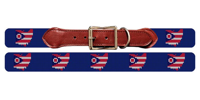 Ohio State Needlepoint Dog Collar