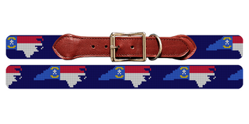 North Carolina State Needlepoint Dog Collar