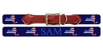 New York State Needlepoint Dog Collar