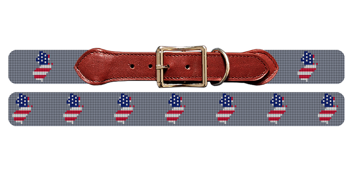 New Jersey State Needlepoint Dog Collar