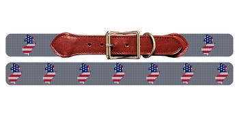 New Jersey State Needlepoint Dog Collar
