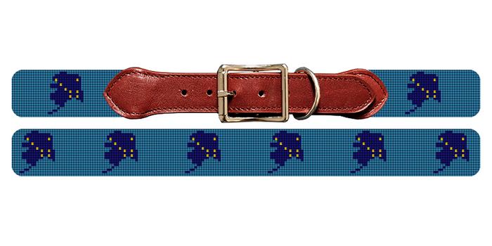 Alaska State Needlepoint Dog Collar