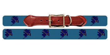 Alaska State Needlepoint Dog Collar