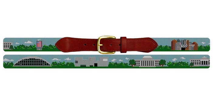 MIT Campus Needlepoint Belt