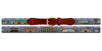 NBA Arenas Needlepoint Belt