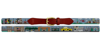 Custom Landscape Needlepoint Belt