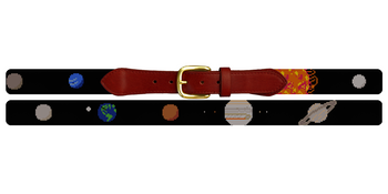 Solar System Needlepoint Belt