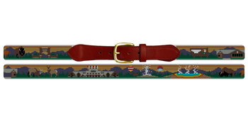 Yellowstone National Park Needlepoint Belt