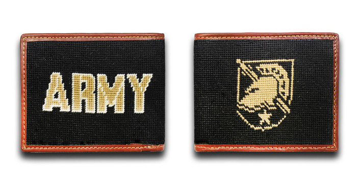 Army West Point USMA Shield Needlepoint wallet