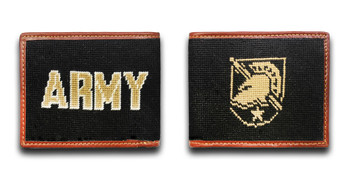 Army West Point USMA Shield Needlepoint wallet