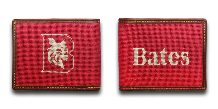 Bates College Bobcats Needlepoint Wallet