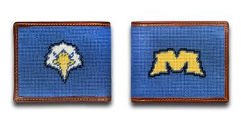 Morehead State University Eagle Needlepoint Wallet
