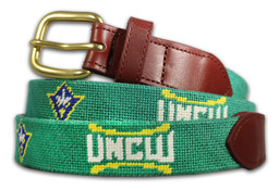 University of North Carolina Wilmington UNCW Needlepoint Belt