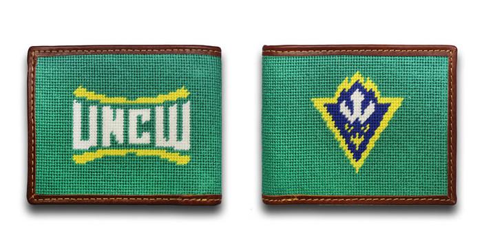 University of North Carolina Wilmington UNCW Seahawk Needlepoint Wallet