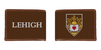 Lehigh University Crest Needlepoint Wallet