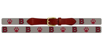 Bates College Bobcats Needlepoint Belt