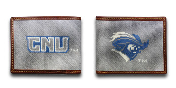 Christopher Newport University CNU Captain Needlepoint Wallet
