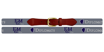 Franklin and Marshall Diplomats Needlepoint Belt