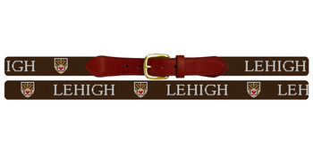 Lehigh University Crest Needlepoint Belt