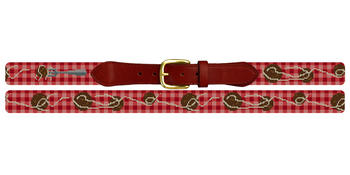 Spaghetti and Meatballs Needlepoint Belt