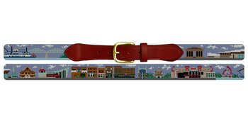 Nashville Landscape Needlepoint Belt