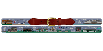 Avalon New Jersey Needlepoint Belt