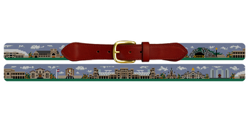 South Bend Landscape Needlepoint Belt University of Notre Dame