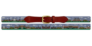 Baltimore Campus Landscape Needlepoint Belt John Hopkins University