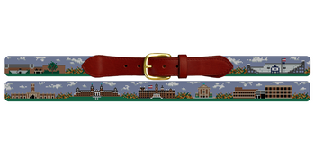 Worcester Massachusetts Landscape Needlepoint Belt College of the Holy Cross