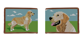 Golden Retriever Needlepoint Wallet