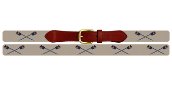 Custom Crew Oars Needlepoint Belt