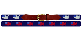 USA Flag Needlepoint Belt