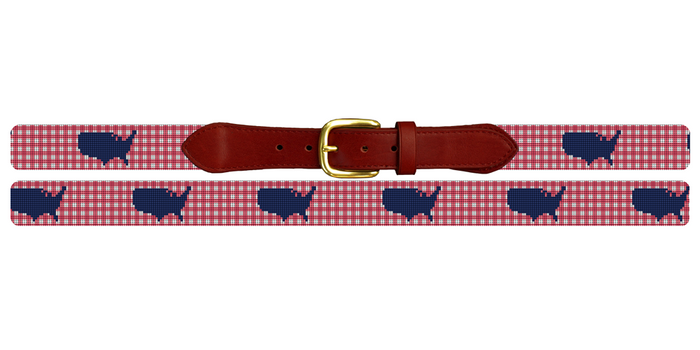 Gingham America Needlepoint Belt