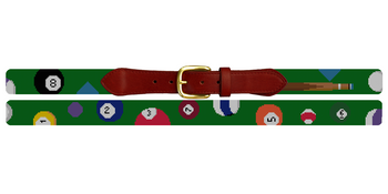 Billiards Needlepoint Belt