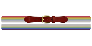 Pride Stripe Needlepoint Belt
