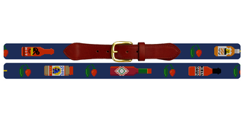 Favorite Hot Sauce Needlepoint Belt
