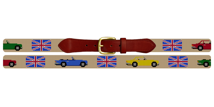British Triumph Cars Needlepoint Belt