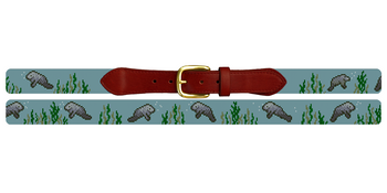 Manatee Needlepoint Belt