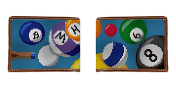 Billiards Needlepoint Wallet