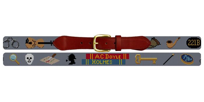 Sherlock Holmes Needlepoint Belt