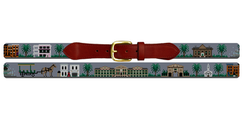 Charleston South Carolina Landscape Needlepoint Belt College of Charleston