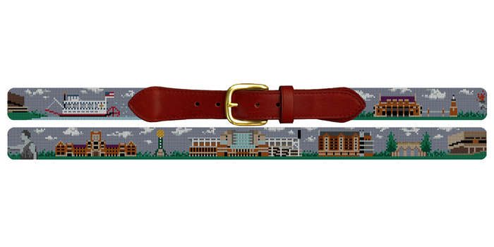 Knoxville Tennessee Landscape Needlepoint Belt University of Tennessee