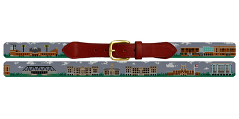 Iowa City Landscape Needlepoint Belt University of Iowa