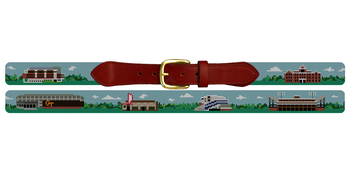 Atlanta Landscape Needlepoint Belt Georgia Tech