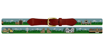Sewanee Tennessee Landscape Needlepoint Belt Sewanee University of the South