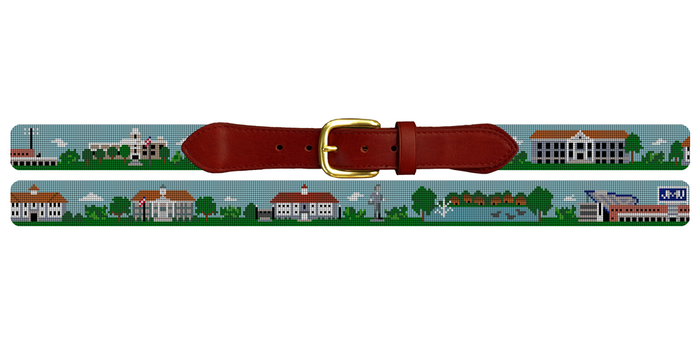 Harrisonburg Virginia Landscape Needlepoint Belt James Madison University